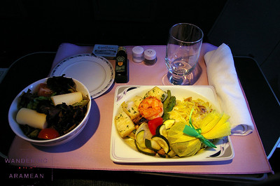 Lunch on the PTY-IAH flight (CO 876)