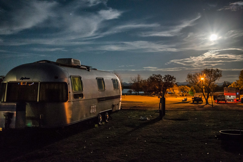 Camping in Oklahoma; First night Moonlight; Thanksgiving Ice Storm