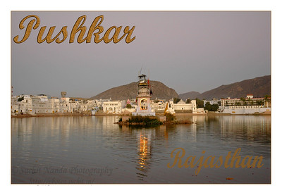 Pushkar is a well-known and important Hindu pilgrim centre. It is just 10 km from Ajmer, Rajasthan. The two important sites are the Pushkar lake and the Brahma temple. Pushkar is better known and popular for the annual mammoth cattle fair which is an amazing site to witness.   The Pushkar lake is surrounded by hills on three sides and desert on the other side. The cave of Saint Agasthya was located on the snake mountain here. There is one belief that Kalidasa, the Indian counterpart of Shakespeare, had this place as his locale for his Sanskrit drama, Shakuntalam. According to a legend, the lake was formed when Lord Brahma dropped a lotus and wanted to perform a yagna. It has world's only temple of Lord Bramha (God of Creation).