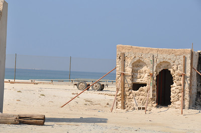 The construction of Palm Deira caused a change in tidal patterns on the coast of Sharjah. The sea rose to the line now marked by the fence in this photo, several houses were washed away as was all the sand on the beach.