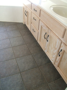 Master bath tile and cupboards.