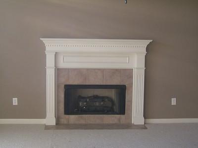 Fireplace in family room (den).