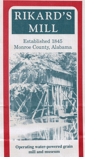 Rikard's Mill - Monroe County, AL  9-30-95<br /> Visited with Virginia Franks