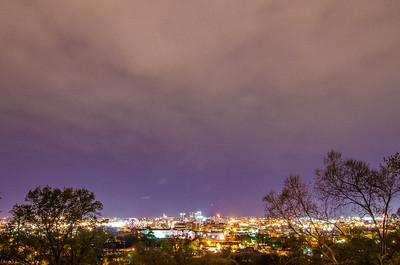 birmingham alabama evening skyline