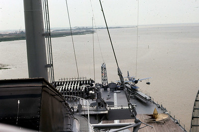 """With the war over, and the military's transition to a """"Peacetime Navy,"""" the cost of maintaining the wartime fleet became too much of a burden. In May 1962, the Navy announced that the USS ALABAMA and many other war ships would soon be scrapped.  In 1964, a campaign was launched to bring the """"Mighty A"""" home to ALABAMA as a memorial to the state's sons and daughters who had served in the armed forces. Alabama school children raised almost $100,000 in mostly nickels, dimes, and quarters to help bring her home to her final resting place.  A corporate fundraising campaign raised the balance of the $1 million needed for the Navy to donate the ship. The money raised financed the cost of what is still the longest non-military ton/mile tow in history."""