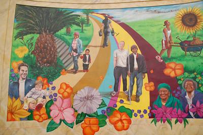 Quesada Avenue median garden and mural
