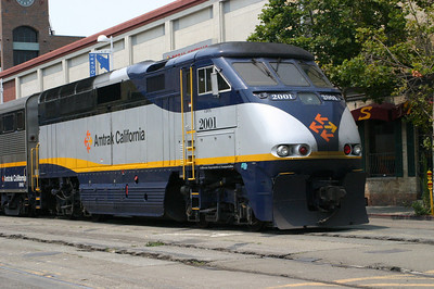 Amtrak runs right along the front of Jack London Square.