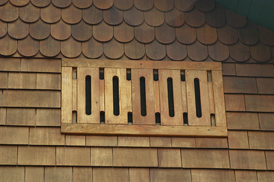 The craftsmanship became obvious when looking at the vent covers for the roof ventilation vents.