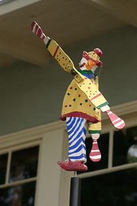 Clown windmill.
