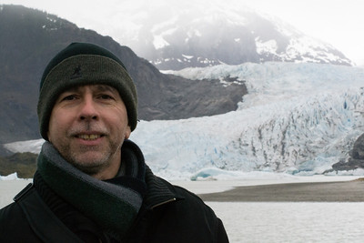 Juneau Andres is standing almost 2 miles from the glacier - that is how big it is!