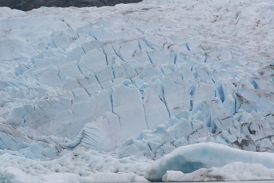 Juneau Mendenhall Glacier - what the ice looks like on top