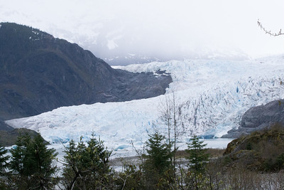 Juneau Mendenhall glacier - as the day progressed, the ice grew bluer.