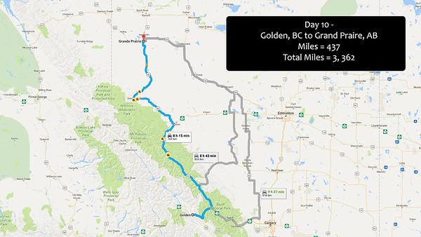 Day 10  -  June 29, 2016 - Jasper/Banf