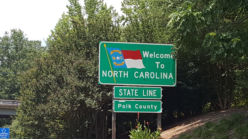 South Carolina/North Carolina state line.  1st state down - many more to come.