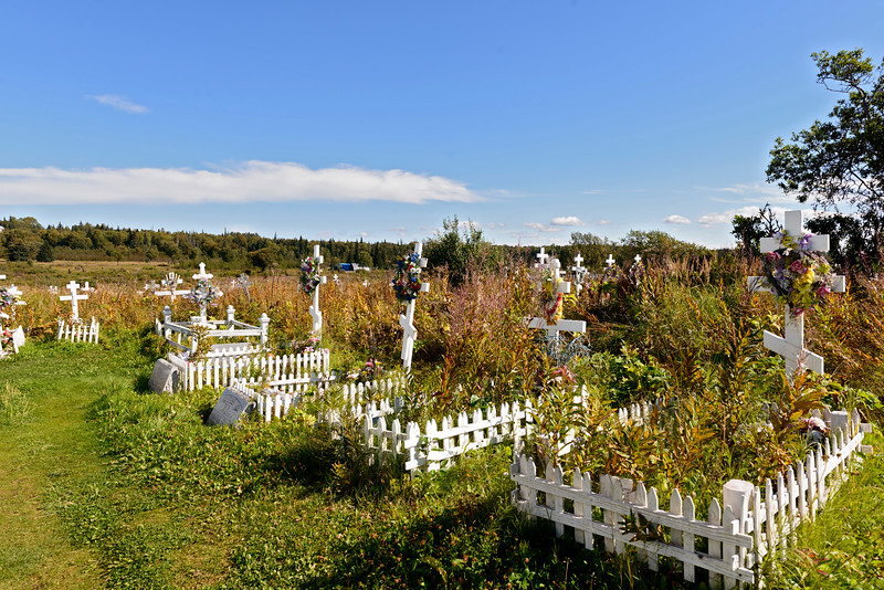 Cemetery at the Holy Transfiguration of Our Lord Chapel in Ninilchik.