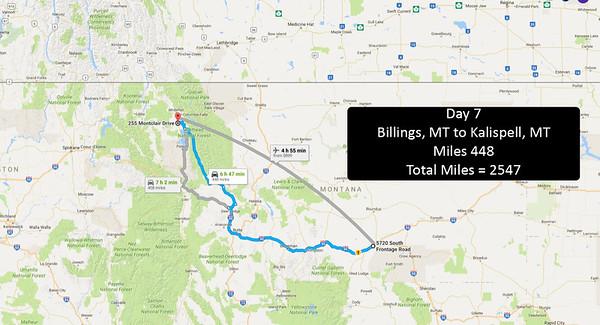 Day 7 - June 26, 2016 - Billings to Kalispell, MT