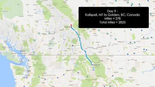 Day 9 - June 28, 2016 - Kallispell, MT to Golden, BC