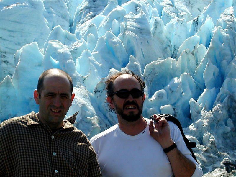 Benoit and Eduardo at Exit Glacier