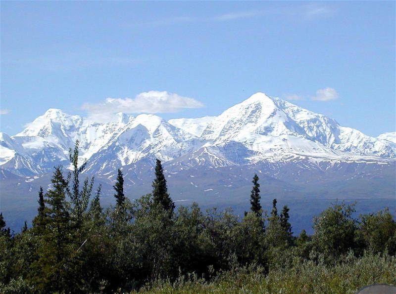 Looking across the Alaska Range from Richardson Hwy