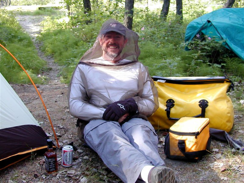 Gerstle River camp; June 23 just east of Fairbanks; Eduardo's mosquitos relief program