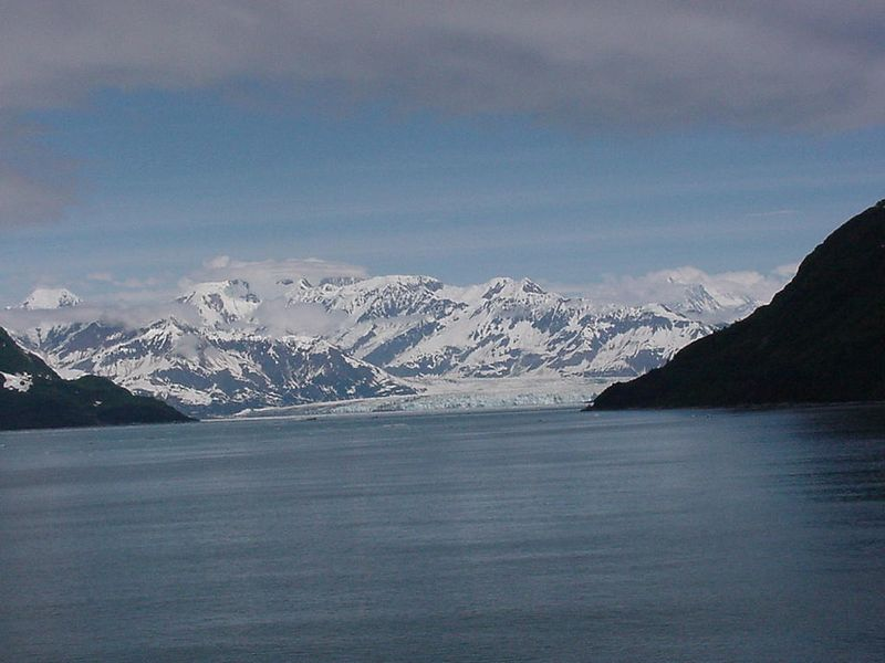 Approaching Hubbard Glacier on Tuesday afternoon, June 15, 2004.