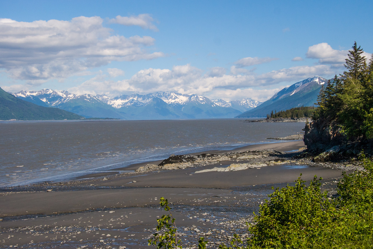 Cook inlet in low tide