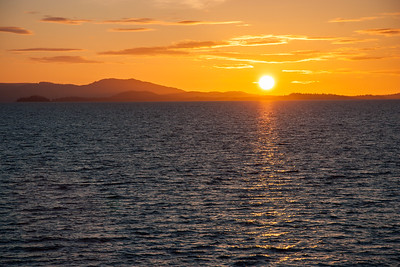 Sunset on board the M/V Matanuska