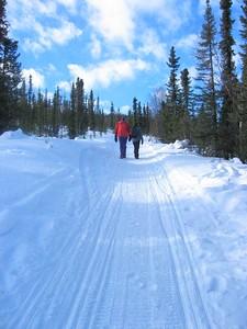 Hiking up Buck Mtn