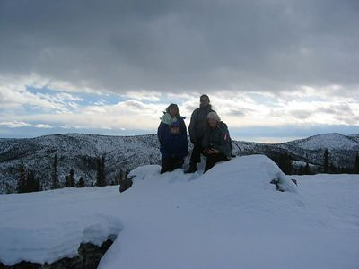 Laurie, Nancy, Paula, Risa at the top of Buck Mtn at Chena Hot Springs