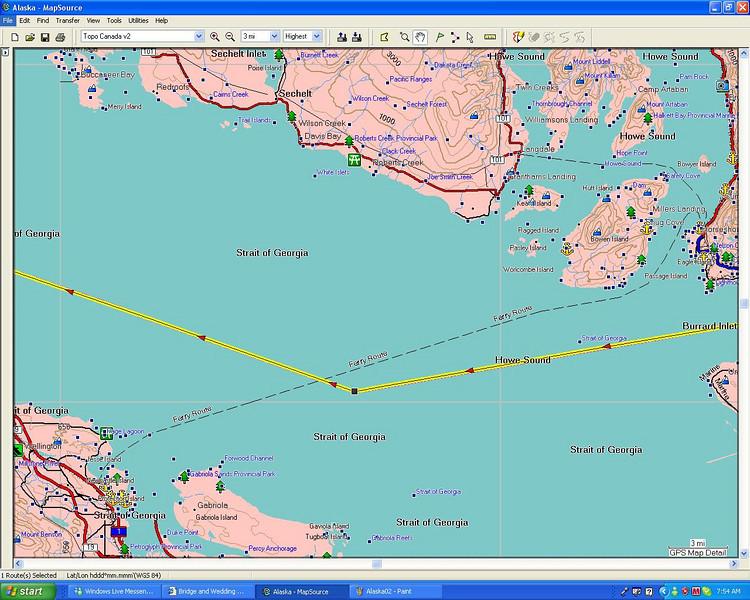 Accross Georgia Strait
