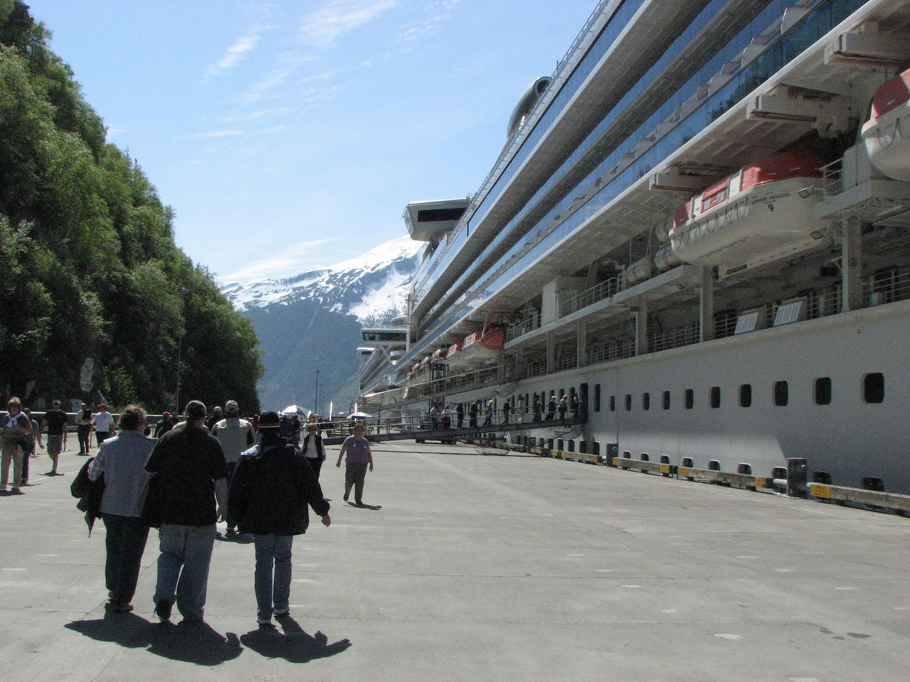 Sapphire followed by the Golden at Skagway. May 27