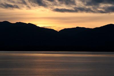 Sunrise before Ketchikan.