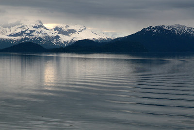 Early evening on the way out of Glacier Bay.