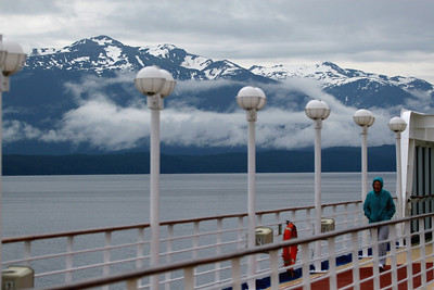 Early morning in Icy Straight before we entered Glacier Bay.