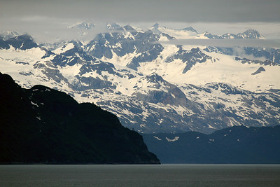 Morning cruising through Glacier Bay on the way to the glaciers.