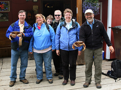 Our whale watching group went over to the Office Bar afterward for crab.  Wow! Was it tasty!