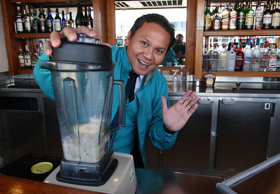 Samson made great drinks and always provided a laugh.  Usually found in the Pacific Louge in the afternoon.