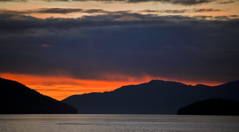 Sunset from the Lucky Loon, Petersburg, Alaska