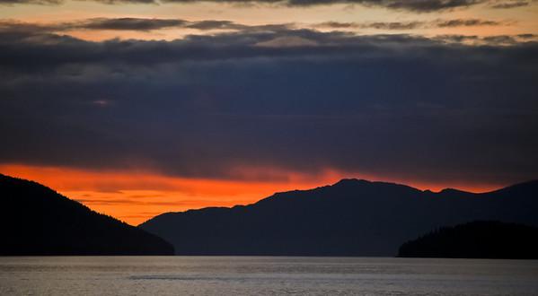 Sunset from the Lucky Loon, Petersburg, Alaska