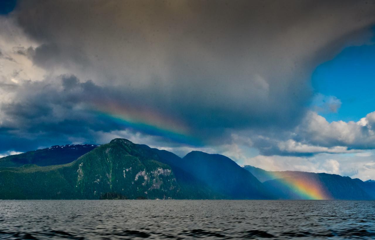 "Rainbow over ""The Wall"", Frederick Sound, Petersburg, Alaska"