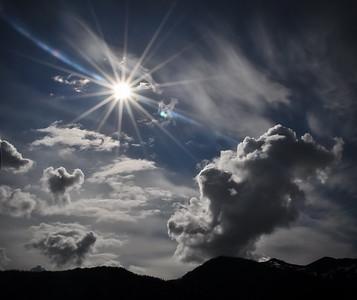 Afternoon sunburst, Petersburg, Alaska