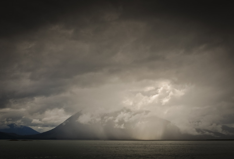 Rainstorm in Frederick Sound, Petersburg, Alaska