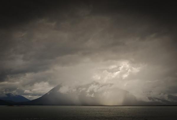Rainstorm in Frederick Sound, Petersburg, Alaska