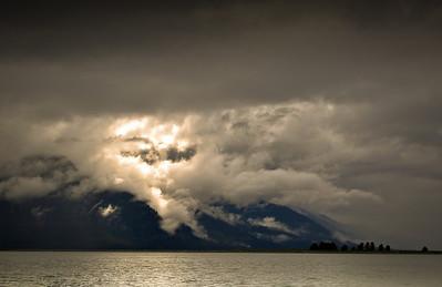 Breaking clouds, Petersburg, Alaska