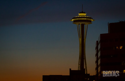 Space Needle at Dusk, Seattle, WA