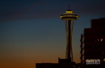 Space Needle at Dusk, Seattle, WA
