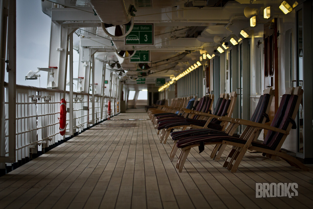 On the deck of the ms Rotterdam (Holland America Cruise Line)