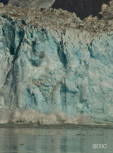 Hubbard glacier, calving, Alaska