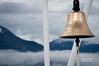 Bell at the bow of the ms Rotterdam
