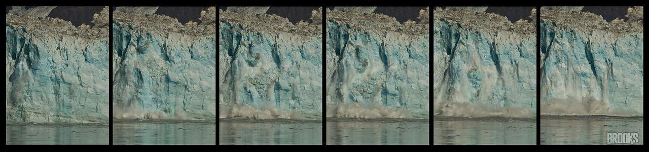 Hubbard Glacier - sequential images of the ice calving